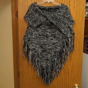 Fringe Poncho Sweater